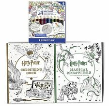 Harry Potter 2 Colouoring Books with 24 STAEDTLER Colour Colouring Pencils-