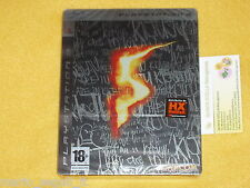 RESIDENT EVIL 5 LIMITED STEEL EDITION Playstation 3 PS3 ITA NUOVA SIGILLATA RARE
