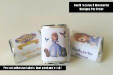 30 SOFIA THE FIRST BIRTHDAY PARTY FAVORS HERSHEY NUGGET LABELS SOFIA THE 1ST