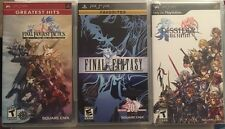 Final Fantasy Sony PSP Lot Of 3 Brand New Games Inc. Tactics,dissidia,FF1