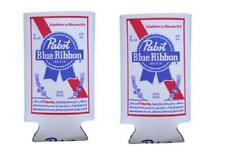 PABST BLUE RIBBON 2 PBR 16oz BEER CAN WRAP COOLERS KOOZIE COOLIE HUGIE NEW