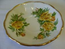 ROYAL ALBERT BONE CHINA TEA ROSE SAUCER / YELLOW ROSES 5-1/2""