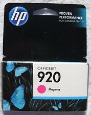 Genuine HP 920 CH635AN Magenta Ink Cartridge 01/2015