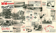 McMorrans Resort Motel Cordova Bay BC Canada Vintage Travel Brochure Photos Map