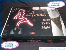 DR W Amour Neon Table Light with stand - FAST SAFE POST