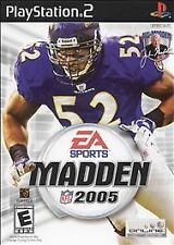 "Playstation 2 Madden 2005 ""E"" DVD 1-2 Players FOOTBALL  the MANUAL is included"