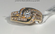 SPECTACULAR ESTATE 14K YELLOW GOLD DIAMOND RING .31 Carats HEAVY HDS Size 5.5