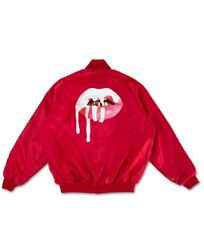 AUTHENTIC Kylie Jenner Lips Satin Bomber Jacket Red - Size Small - S - SOLD OUT!
