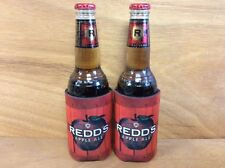Redd's Apple Ale Cider Beer Koozies Can Cooler Coozie - New - 2 Pk - Free Shipn.
