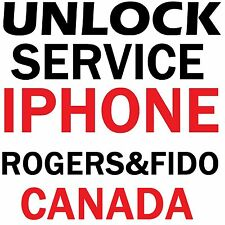 Rogers Fido Canad iPhone 7 7+ 6S 6S+ 6 6+ 5S Premium Factory Unlock Service Code