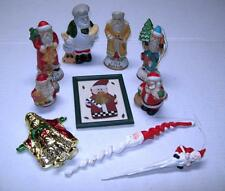 LOT of10 SANTA CLAUS Ornaments KRIS KRINGLE Figurines Baker St Nick Frame WINTER
