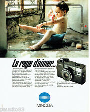 PUBLICITE ADVERTISING  016  1981  Minolta appareil photo  Hi-Matic AF2