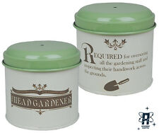 VINTAGE RETRO IN SERVICE GARDEN STRING IN A TIN BOX STORAGE CONTAINER TIN NEW