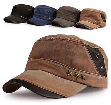 New Men's Cadet Military Hat/Cap Trucker Hat Visor Unisex Brown