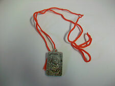 Nickeltone Necklace Pendant with Chinese Dragon one side Lettering other side