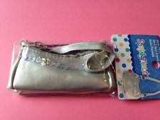 "Springfield Doll Clothes-Accessories Silver Purse -American Girl or18"" doll"
