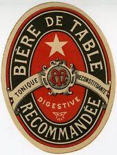 """""""BIERE DE TABLE DIGESTIVE RECOMMANDEE (CM)"""" Etiquette-chromo originale fin 1800"""