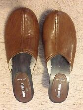 Miu Miu Studded Leather Clogs Size 8 USA