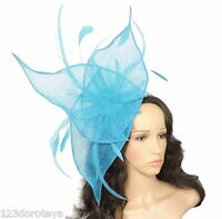 Dark Turquoise Fascinator Hat for weddings/ascot/proms