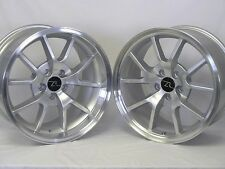 """18"""" Silver Mustang FR500 Wheels Rims Staggered 18x9 18x10 5x114.3 18 inch 94-04"""