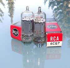 Pair RCA 6FQ7 / 6CG7 clear top NOS matched USA made pair tubes