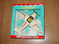 Vintage FISHER PRICE SPORT PLANE and Pilot  #306