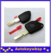 car key case replacement for peugeot 406 1 button shell blank cover fob