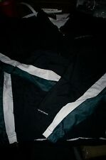 NWT SPEEDO MEN'S ATHLETIC SWIMMING WATER RESISTANT SWEAT JACKET-BLACK/GREEN-MED