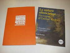 Dossier de presse exposition  Paysages d'ODILON REDON La nature silencieuse