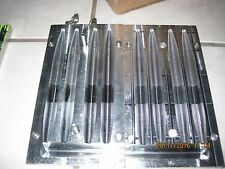 """BTS 6"""" Fat Stick 4 cavity  2 piece side injection mold bobs tackle shack"""