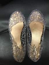 Vivienne Westwood Silver Sparkling Jelly Shoes Size 37 Uk4