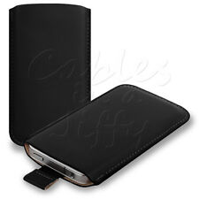 BLACK PU LEATHER SLEEVE CASE COVER FOR SONY ERICSSON XPERIA X10 MINI PHONE