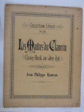 Piano LES MAITRES DU CLAVECIN Rameau, LITOLFF 281