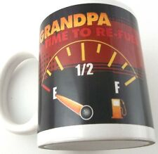 Time to Refuel Grandpa Fuel Gauge on Empty Coffee Cup Mug Humorous