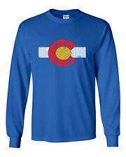 451 Colorado Flag Long Sleeve Shirt denver rocky mountains state pride vintage