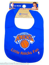 New York Knicks NBA Baby Boys Blue Bib Infant Toddler Newborn Little Fan Logo