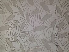 OUTDURA PRESTO DOVE GRAY LEAF JACQUARD OUTDOOR INDOOR FABRIC BY THE YARD