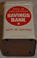 Vintage Superior Mfg. Co.Toy Com. Bank  Savings No Rubbish Bank Will Help U Save