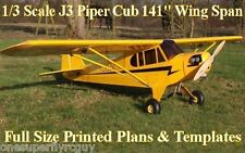 "Piper J3 Cub 141"" WS Giant Scale RC Airplane PRINTED Plans & Templates"