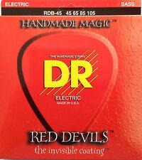 DR RDB-45 Red Devils Coated BASS Guitar Strings 45-105 med gauge