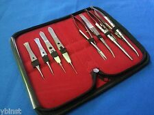 8 PCS O.R GRADE CASTROVIEJO NEEDLE HOLDERS+SCISSORS+SUTURE TYING FORCEPS KIT #3