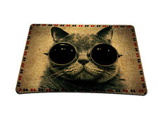 Cool Cat With Glasses Anti-Slip Mice Pad Mat Mousepad For Optical Laser Mouse