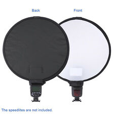 "Neewer 16""/40cm Round Softbox with Grey Balance Card for Canon Nikon Speedlight"