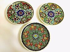 Turkey Kütahya Ceramic Decorative Plates Middle Eastern / Islamic Art / Set of 3