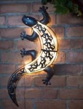 Solar Powered Gecko Wall Art/Fence Light Static or Flashing Garden