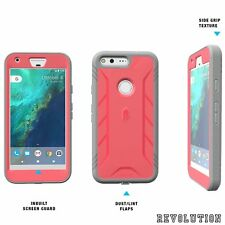POETIC Rugged Complete Protection Hybrid Case TPU Cover for Google Pixel XL Pink