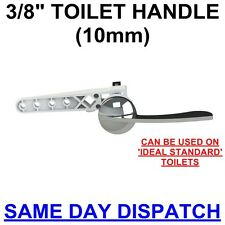 "TRADITIONAL 3/8"" METAL TOILET HANDLE KIT/ FLUSH LEVER for WC CISTERN TANK SYPHON"
