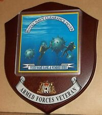 Royal Navy Diver Veteran Wall Plaque with name, rank & number free.