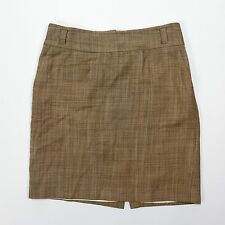 Banana Republic size 6 Tan Wool Stretch Straight Pencil Skirt Lined Career Work