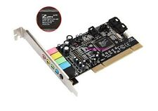 New 5.1 6-Channel 3D PCI Digital Stereo Audio Sound Card C-Media CMI8738 Chipset